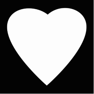 Black and White Love Heart Design Cut Outs
