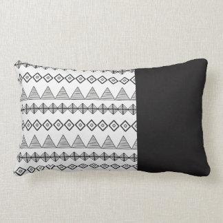 Black and White Lumbar cushion Traces