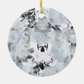 Black and white luxurious abstract modern art ceramic ornament