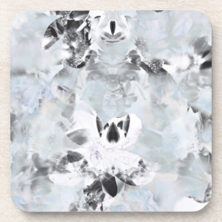 Black and white luxurious abstract modern art coaster