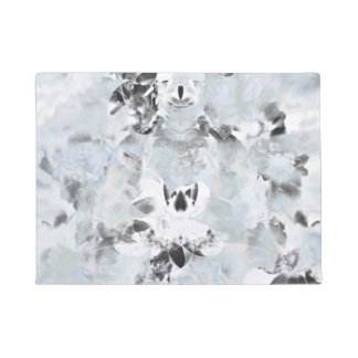 Black and white luxurious abstract modern art doormat