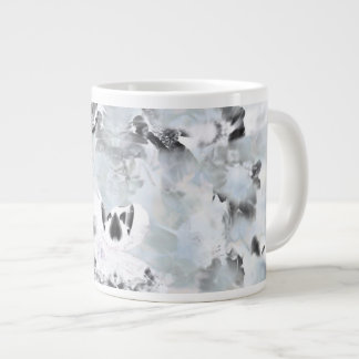 Black and white luxurious abstract modern art giant coffee mug