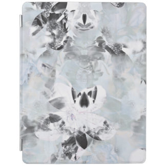 Black and white luxurious abstract modern art iPad cover