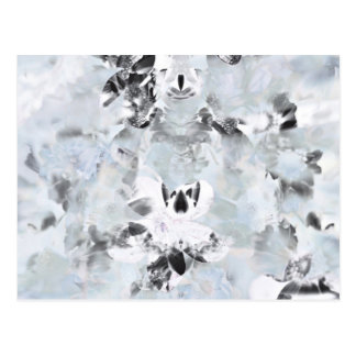Black and white luxurious abstract modern art postcard