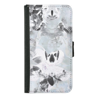 Black and white luxurious abstract modern art samsung galaxy s5 wallet case