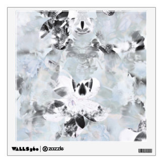 Black and white luxurious abstract modern art wall sticker