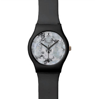 Black and white luxurious abstract modern art watch
