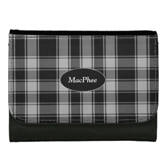 Black and White MacPhee Custom Tartan Plaid Wallet