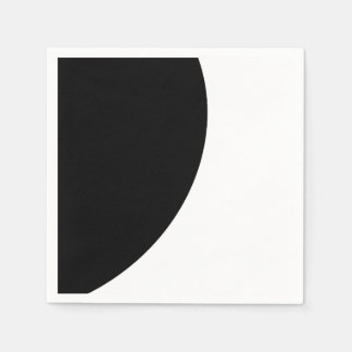 Black and White Majesty Disposable Napkins