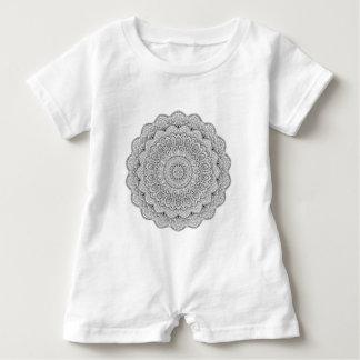 Black and white Mandala Baby Romper