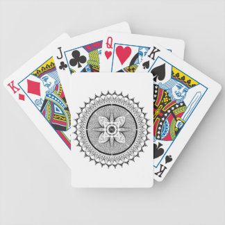 Black and white mandala bicycle playing cards