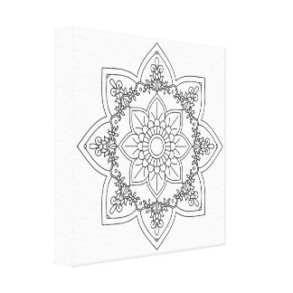 Black and White Mandala by Ana Tar, 407 Canvas Print