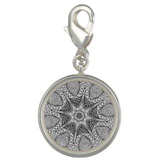 Black and White Mandala Charm