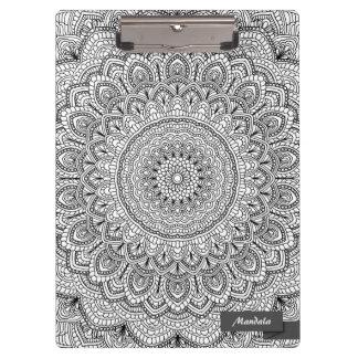 Black and white Mandala Clipboard