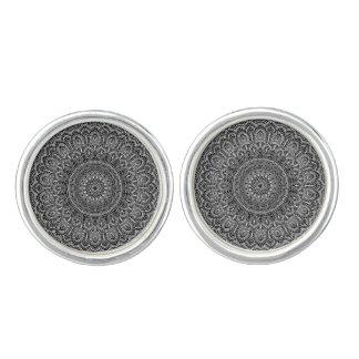Black and white Mandala Cufflinks