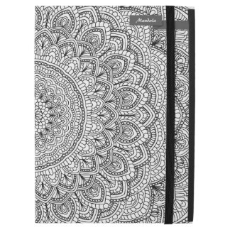 "Black and white Mandala iPad Pro 12.9"" Case"