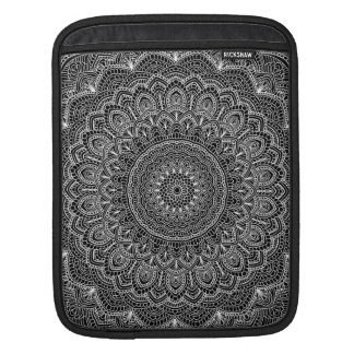 Black and white Mandala iPad Sleeve