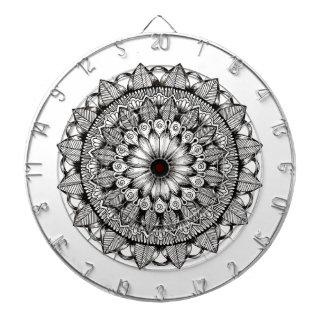Black and White Mandala Item Dartboard
