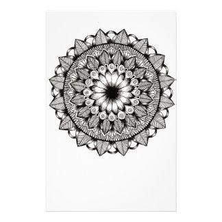Black and White Mandala Item Stationery