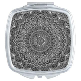 Black and white Mandala Mirror For Makeup