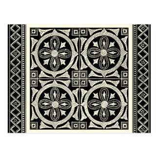 Black and White Mandala Motif by Vision Studio Postcard
