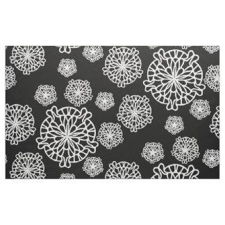 Black and White Mandala Pattern Fabric