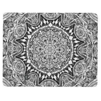 Black and white mandala pattern journal