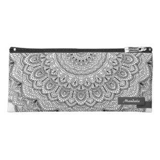 Black and white Mandala Pencil Case