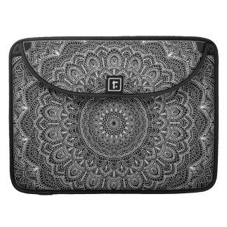 Black and white Mandala Sleeve For MacBooks