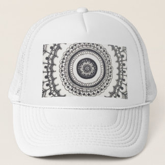 Black and White Mandala Snapback by Megaflora Trucker Hat