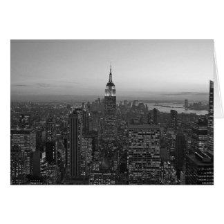 Black and White Manhattan Card
