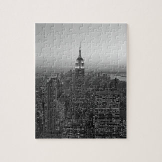 Black and White Manhattan Jigsaw Puzzle