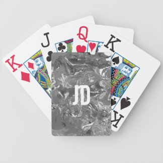 Black and white Marble. Bicycle Playing Cards
