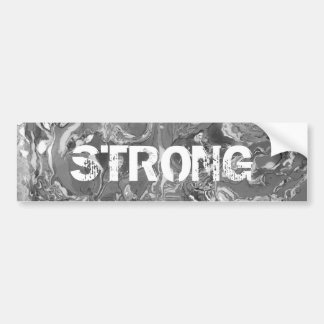 Black and white Marble. Bumper Sticker