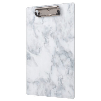 Black and White Marble Clipboard