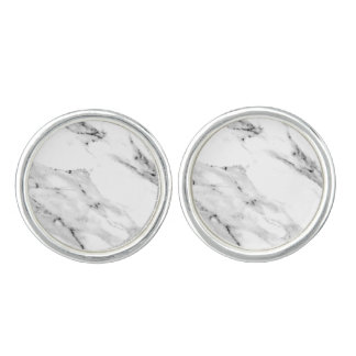 Black and White Marble Cufflinks