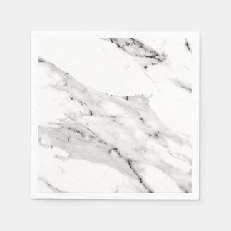 Black and White Marble Napkin