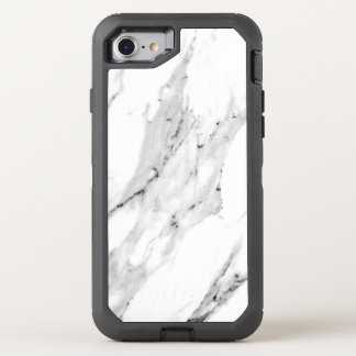 Black and White Marble OtterBox Defender iPhone 8/7 Case