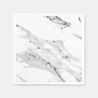 Black and White Marble Paper Napkins