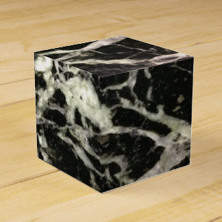 Black and White Marble Stone Favor Box