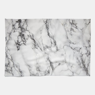 black and white marble stone kitchen towel