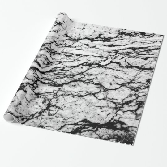 Black and White Marble Stone Pattern