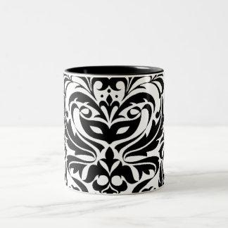 Black and White Masquerade Damask Mug
