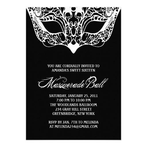 Unique Masquerade Invitations with awesome invitation sample