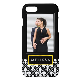 Black and White Medieval French Fleur de Lys iPhone 8/7 Case
