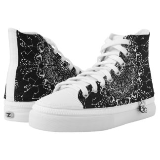 Black and White Mens High Top Sneakers