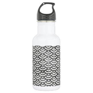 Black and White Mermaid Pastel Pattern 532 Ml Water Bottle