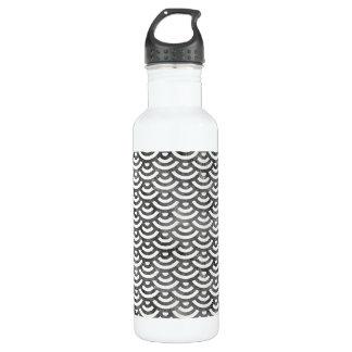 Black and White Mermaid Pastel Pattern 710 Ml Water Bottle