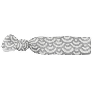 Black and White Mermaid Pastel Pattern Hair Tie