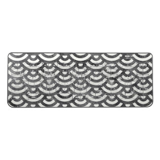 Black and White Mermaid Pastel Pattern Wireless Keyboard